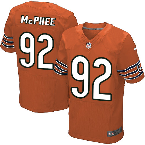 Pernell McPhee Nike Chicago Bears Elite Orange Alternate Jersey