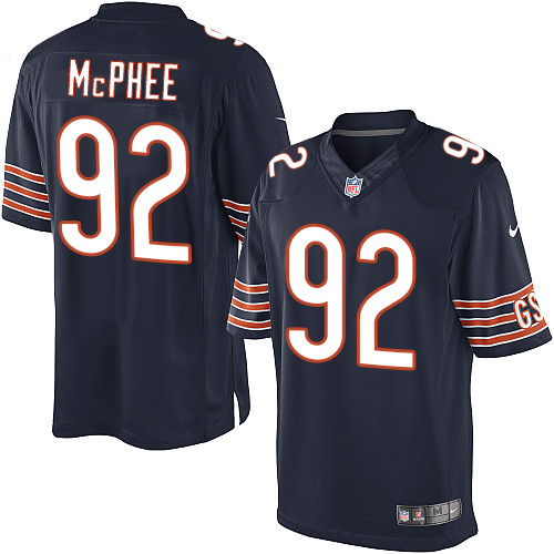 Pernell McPhee Youth Nike Chicago Bears Elite Navy Blue Team Color Jersey