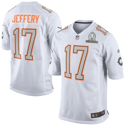 Alshon Jeffery Nike Chicago Bears Game White 2014 Pro Bowl Jersey