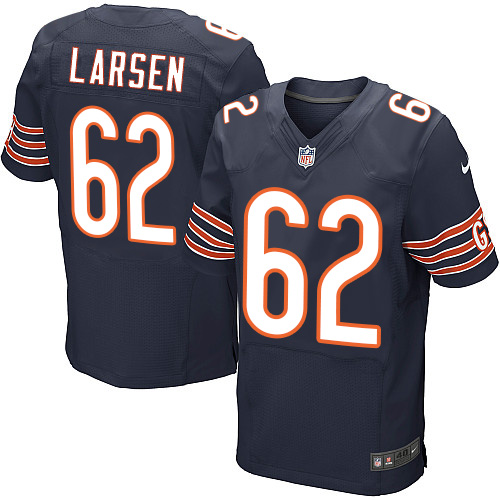 Ted Larsen Nike Chicago Bears Elite Navy Blue Team Color Jersey