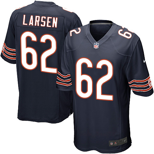 Ted Larsen Nike Chicago Bears Game Navy Blue Team Color Jersey