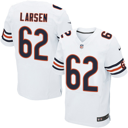 Ted Larsen Nike Chicago Bears Elite White Jersey