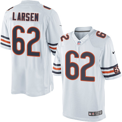 Ted Larsen Nike Chicago Bears Limited White Jersey