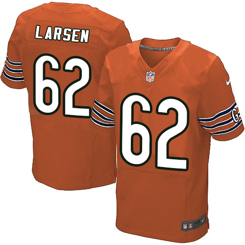 Ted Larsen Nike Chicago Bears Elite Orange Alternate Jersey