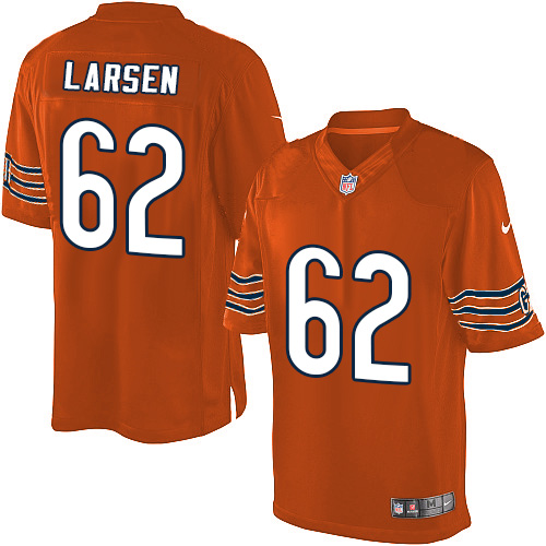 Ted Larsen Nike Chicago Bears Limited Orange Alternate Jersey