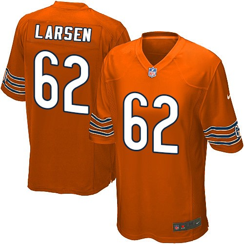 Ted Larsen Nike Chicago Bears Game Orange Alternate Jersey