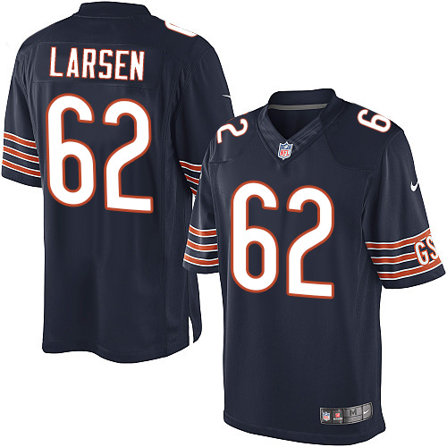 Ted Larsen Youth Nike Chicago Bears Elite Navy Blue Team Color Jersey
