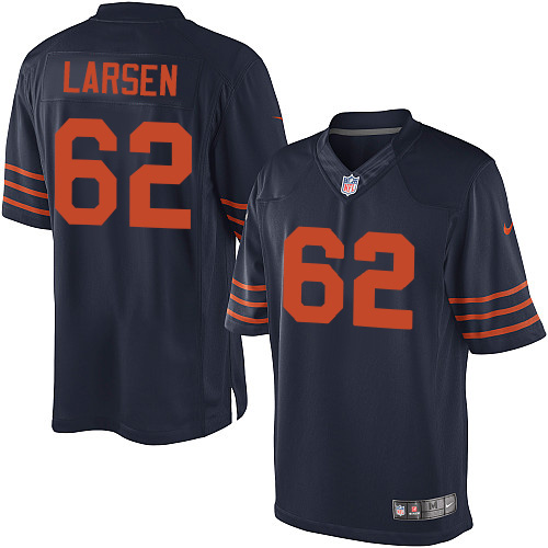 Ted Larsen Youth Nike Chicago Bears Limited Navy Blue 1940s Throwback Alternate Jersey