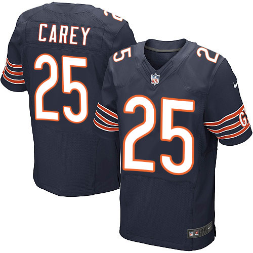 Ka'Deem Carey Nike Chicago Bears Elite Navy Blue Team Color Jersey