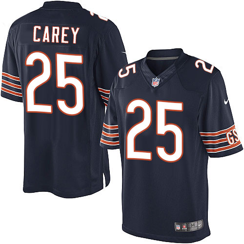 Ka'Deem Carey Nike Chicago Bears Limited Navy Blue Team Color Jersey