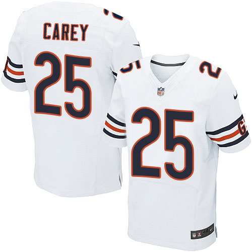 Ka'Deem Carey Nike Chicago Bears Elite White Jersey