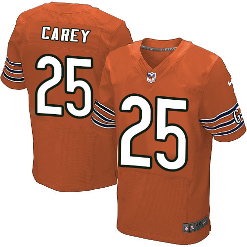 Ka'Deem Carey Nike Chicago Bears Elite Orange Alternate Jersey
