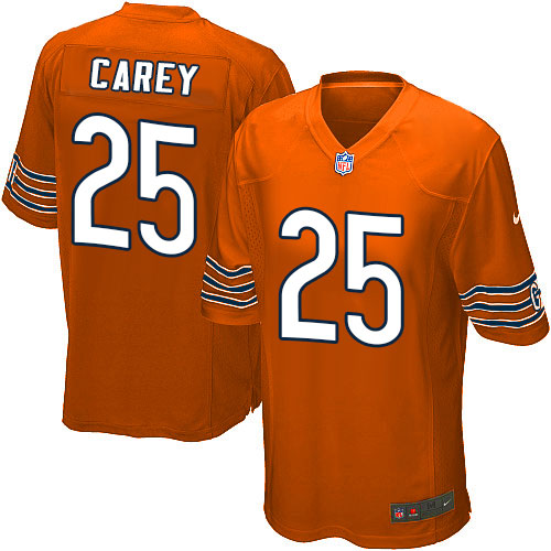 Ka'Deem Carey Nike Chicago Bears Game Orange Alternate Jersey