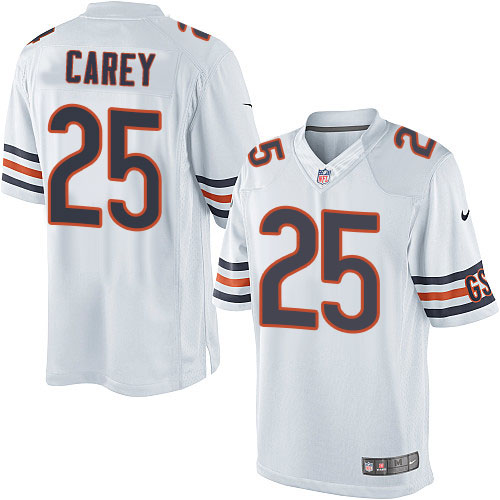 Ka'Deem Carey Youth Nike Chicago Bears Limited White Jersey