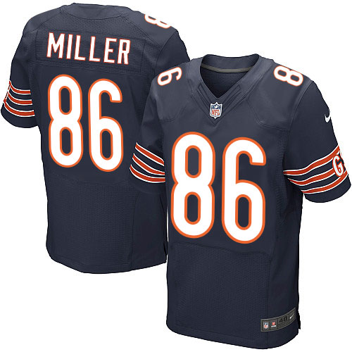 Zach Miller Nike Chicago Bears Elite Navy Blue Team Color Jersey