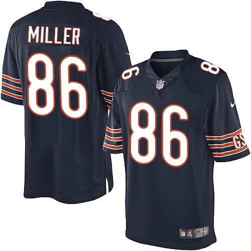 Zach Miller Nike Chicago Bears Limited Navy Blue Team Color Jersey