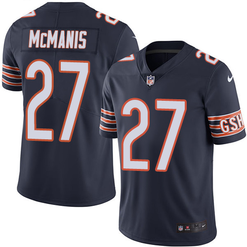 Sherrick McManis Nike Chicago Bears Limited Navy Blue Color Rush Jersey