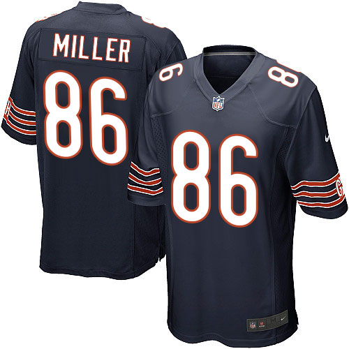 Zach Miller Nike Chicago Bears Game Navy Blue Team Color Jersey