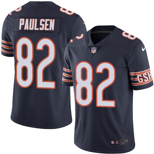 Logan Paulsen Nike Chicago Bears Limited Navy Blue Color Rush Jersey