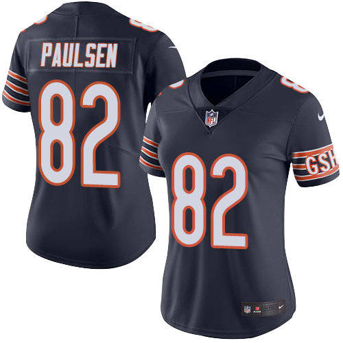 Logan Paulsen Women's Nike Chicago Bears Limited Navy Blue Color Rush Jersey