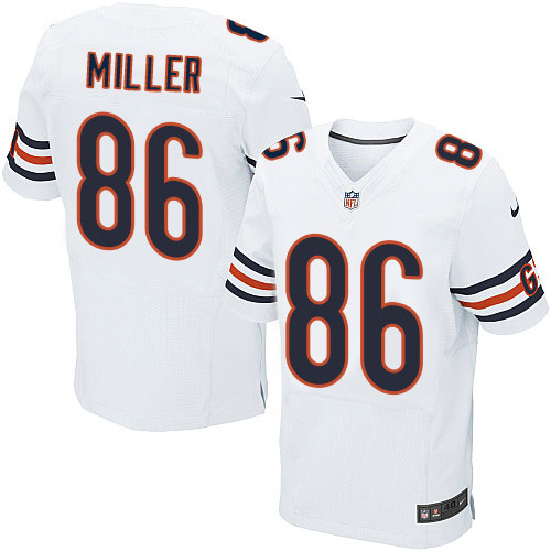 Zach Miller Nike Chicago Bears Elite White Jersey