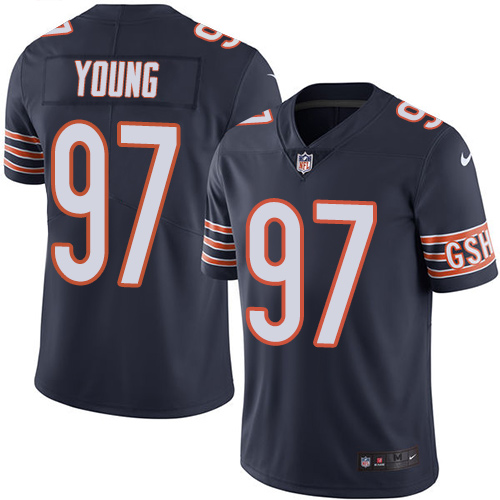 Willie Young Youth Nike Chicago Bears Limited Navy Blue Color Rush Jersey