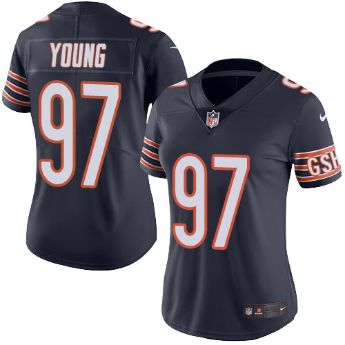 Willie Young Women's Nike Chicago Bears Limited Navy Blue Color Rush Jersey
