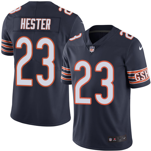 Devin Hester Nike Chicago Bears Limited Navy Blue Color Rush Jersey