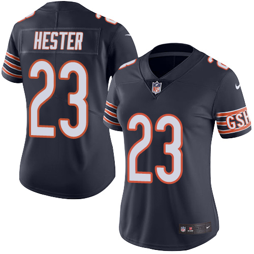 Devin Hester Women's Nike Chicago Bears Limited Navy Blue Color Rush Jersey