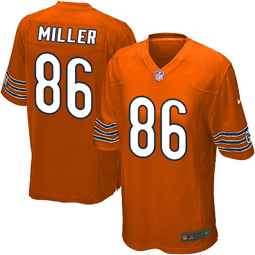 Zach Miller Nike Chicago Bears Game Orange Alternate Jersey