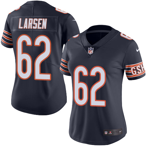 Ted Larsen Women's Nike Chicago Bears Limited Navy Blue Color Rush Jersey