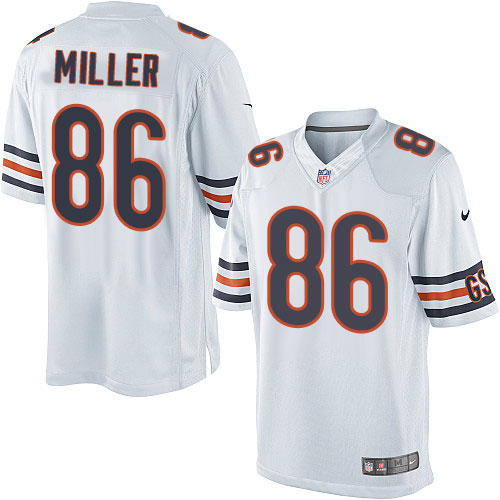 Zach Miller Youth Nike Chicago Bears Limited White Jersey