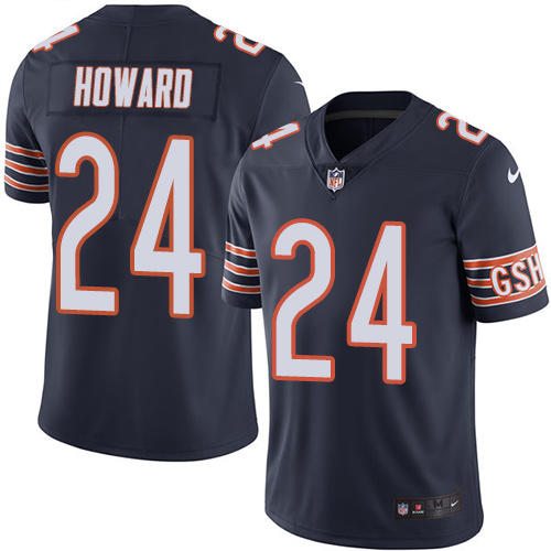 Jordan Howard Youth Nike Chicago Bears Limited Navy Blue Color Rush Jersey