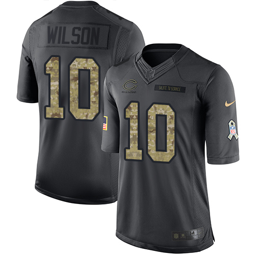 Marquess Wilson Youth Nike Chicago Bears Limited Black 2016 Salute to Service Jersey