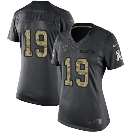 Eddie Royal Women's Nike Chicago Bears Limited Black 2016 Salute to Service Jersey