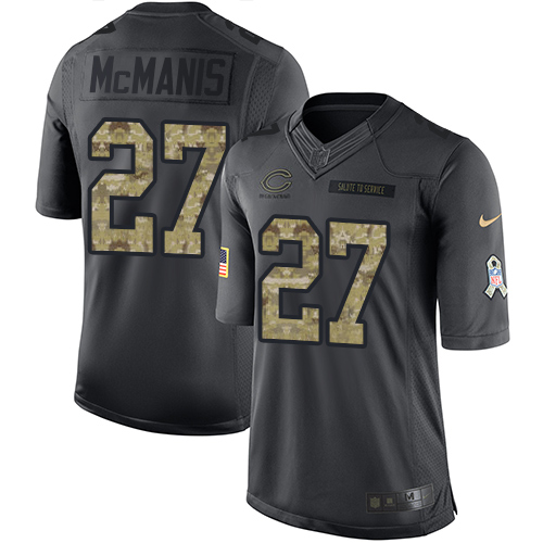 Sherrick McManis Youth Nike Chicago Bears Limited Black 2016 Salute to Service Jersey