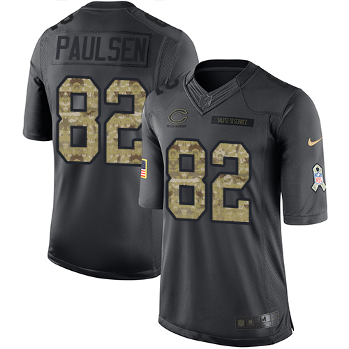 Logan Paulsen Nike Chicago Bears Limited Black 2016 Salute to Service Jersey