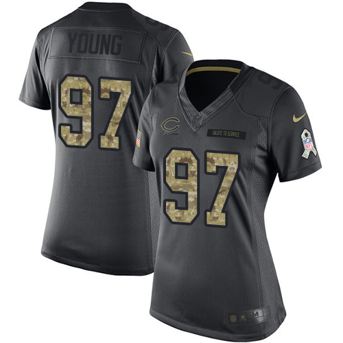 Willie Young Women's Nike Chicago Bears Limited Black 2016 Salute to Service Jersey