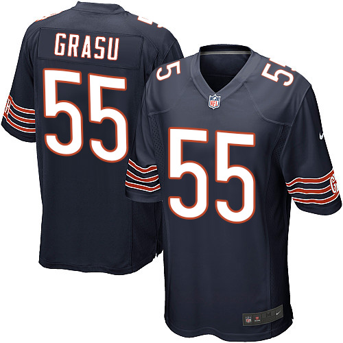 Hroniss Grasu Nike Chicago Bears Game Navy Blue Team Color Jersey
