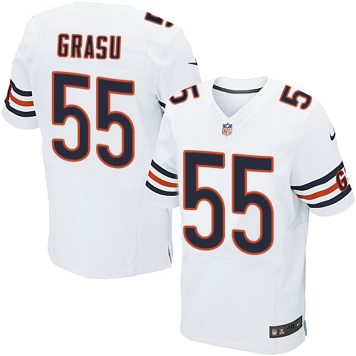Hroniss Grasu Nike Chicago Bears Elite White Jersey