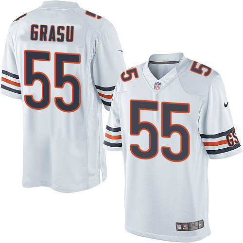 Hroniss Grasu Nike Chicago Bears Limited White Jersey