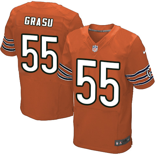 Hroniss Grasu Nike Chicago Bears Elite Orange Alternate Jersey