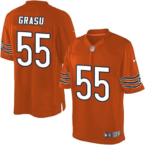 Hroniss Grasu Nike Chicago Bears Limited Orange Alternate Jersey