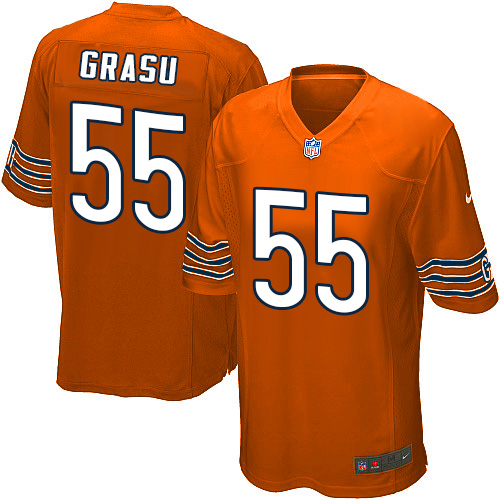 Hroniss Grasu Nike Chicago Bears Game Orange Alternate Jersey