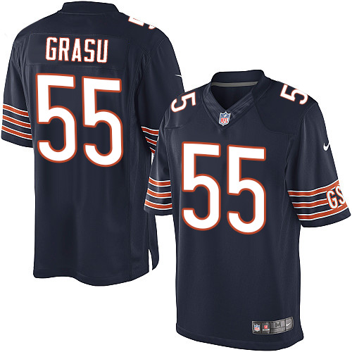 Hroniss Grasu Youth Nike Chicago Bears Limited Navy Blue Team Color Jersey