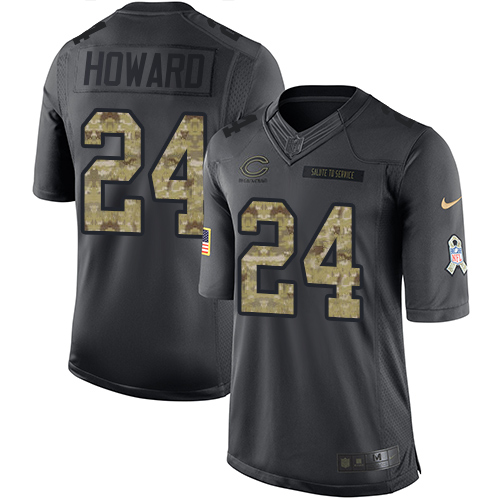 Jordan Howard Nike Chicago Bears Limited Black 2016 Salute to Service Jersey