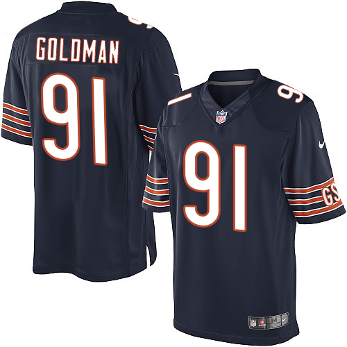Eddie Goldman Nike Chicago Bears Limited Navy Blue Team Color Jersey