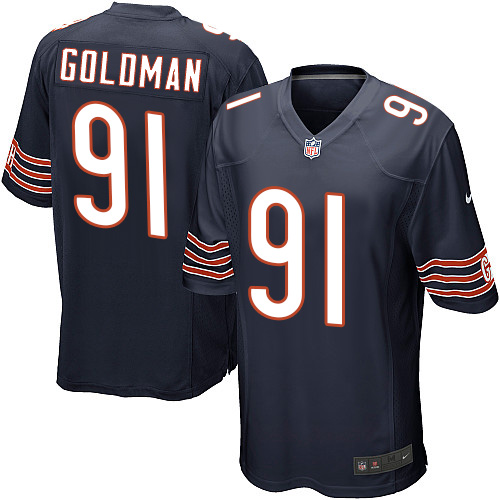Eddie Goldman Nike Chicago Bears Game Navy Blue Team Color Jersey