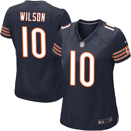 Marquess Wilson Women's Nike Chicago Bears Game Navy Blue Team Color Jersey