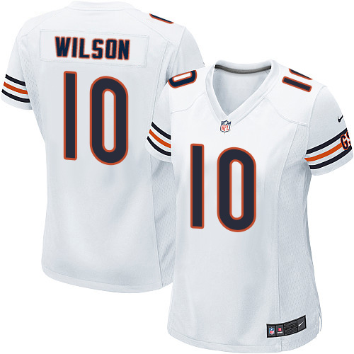 Marquess Wilson Women's Nike Chicago Bears Game White Jersey